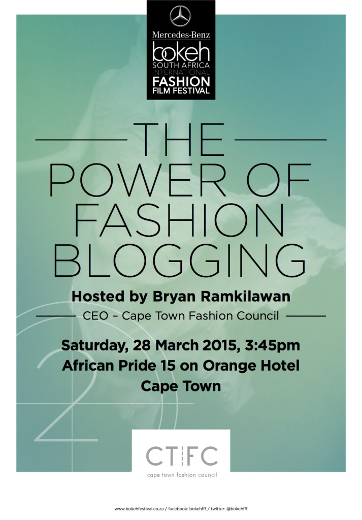 Power of blogging Bokeh 2015 CTFC Poster 2