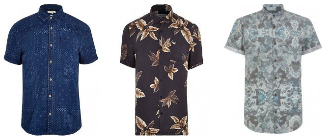 Bold patterns in short sleeved shirts