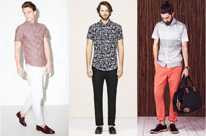 Smart casual look for short sleeved shirts