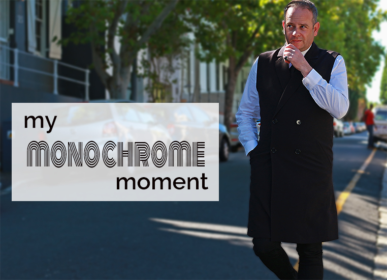Monochrome styling for men in Cape Town