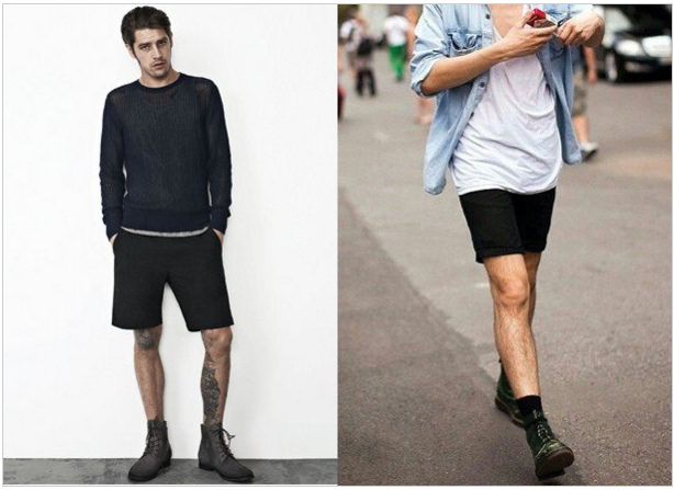 Shorts and leather boots option visual