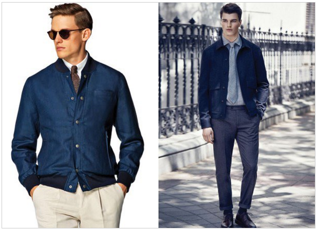 Cropped jacket and shirt and tie option visual