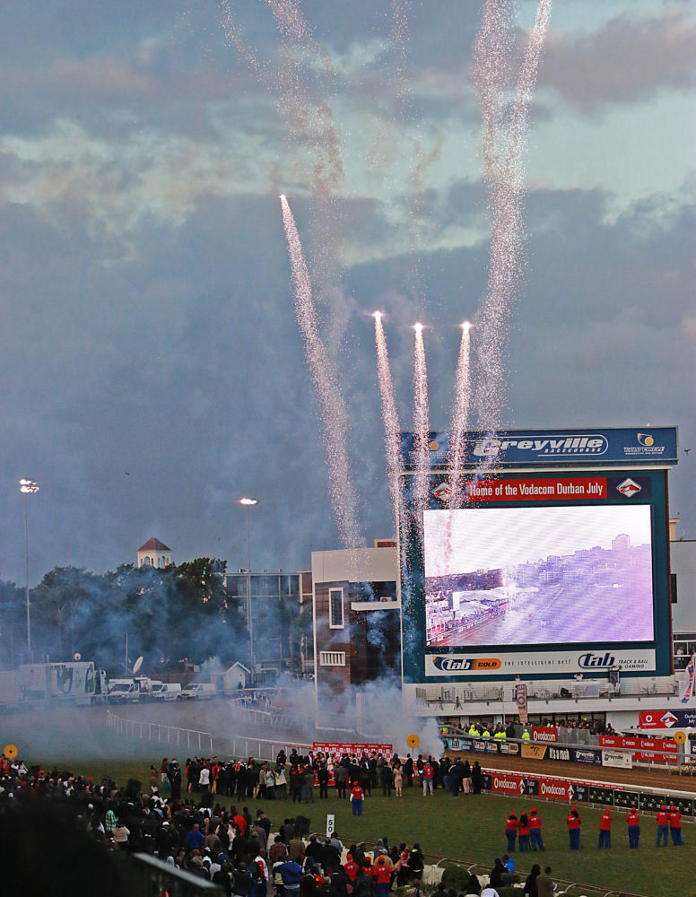 Fireworks after Main Race Vodacom Durban July for Fashion Look Book