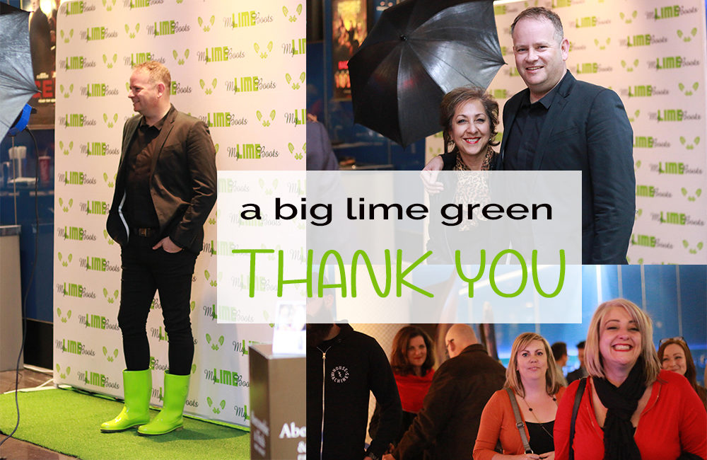 A Lime Green Thank You From My Lime Boots