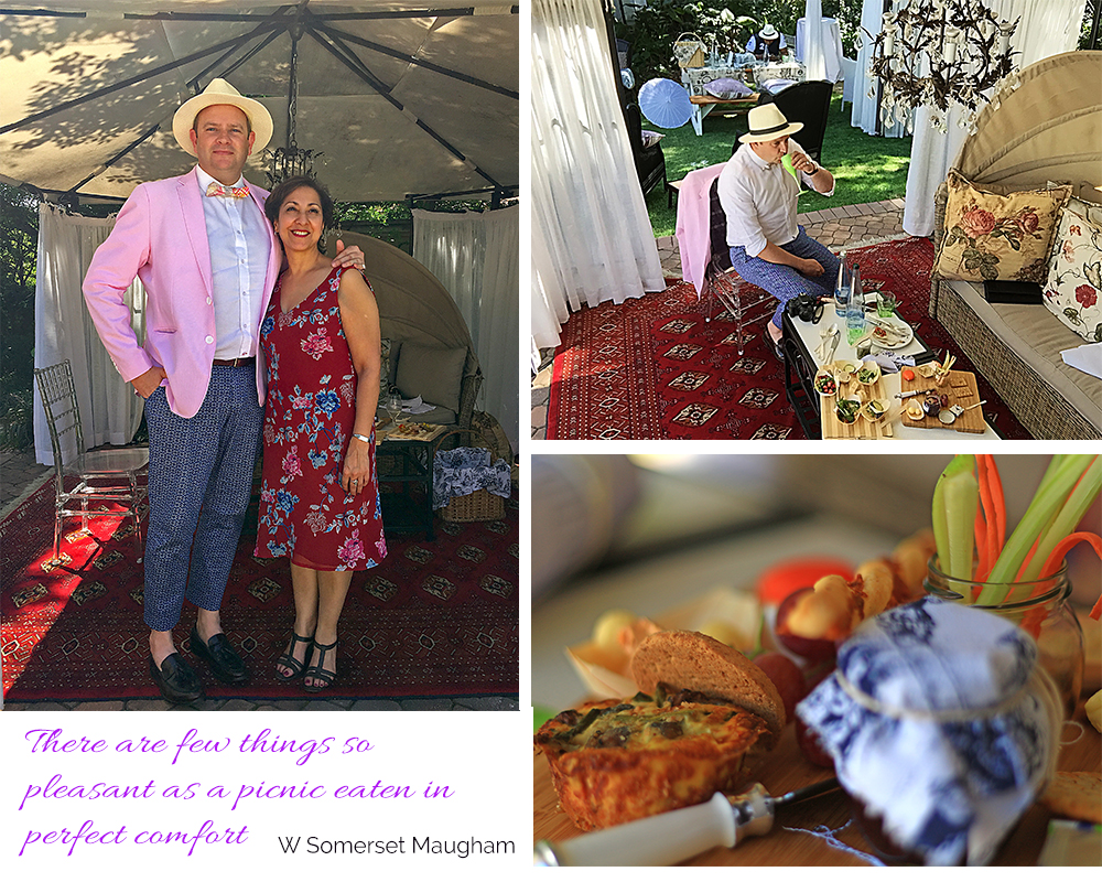 Picnic spoils at Fairlawns Boutique Hotel and Spa