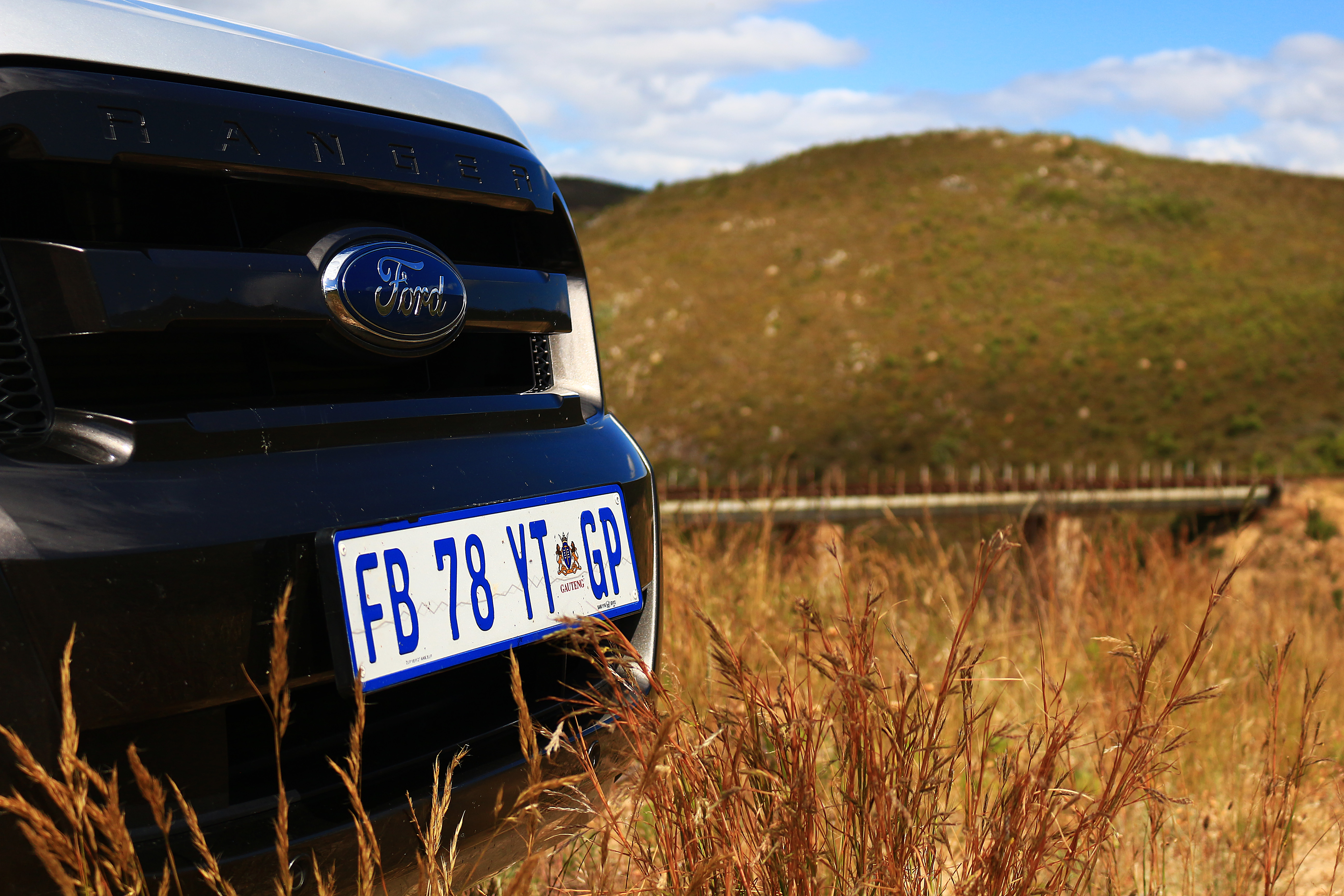 Ford Ranger at the railway bridge in the Bot River Valley on My Lime Boots