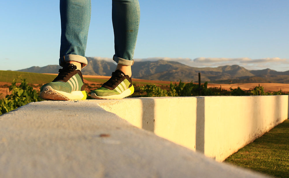 My Vine Boots exploring Wildekrans Wine Estate on My Lime Boots