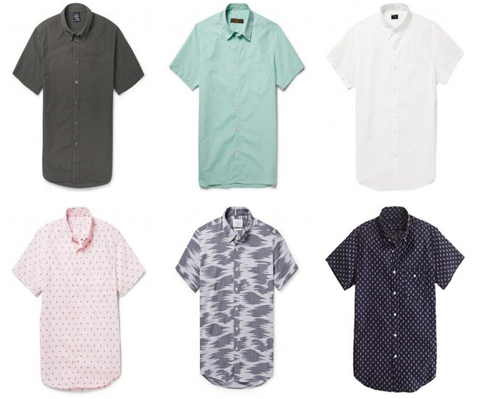 Short sleeved shirts fabrics and styles