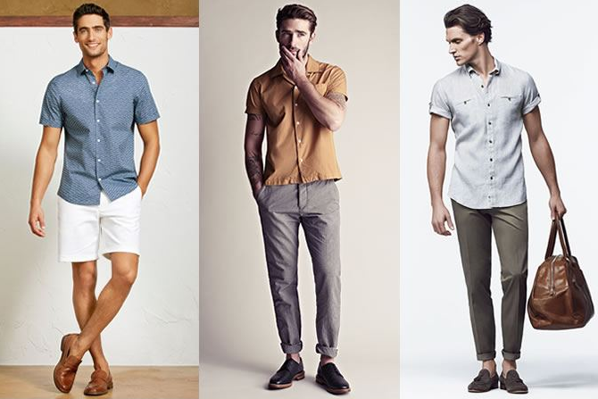 Simply structure in short sleeved shirts