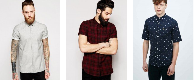On trend for short sleeved shirts