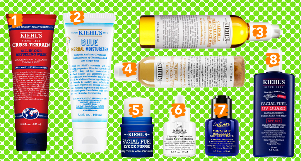 Kiehls skincare products