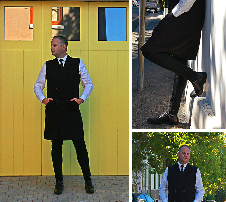 Male monochrome styling in Cape Town