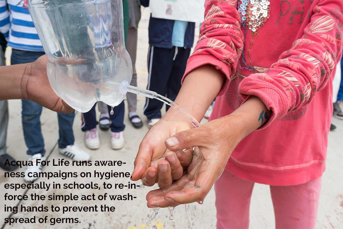 Simple act of washing hands Armani World Water Day