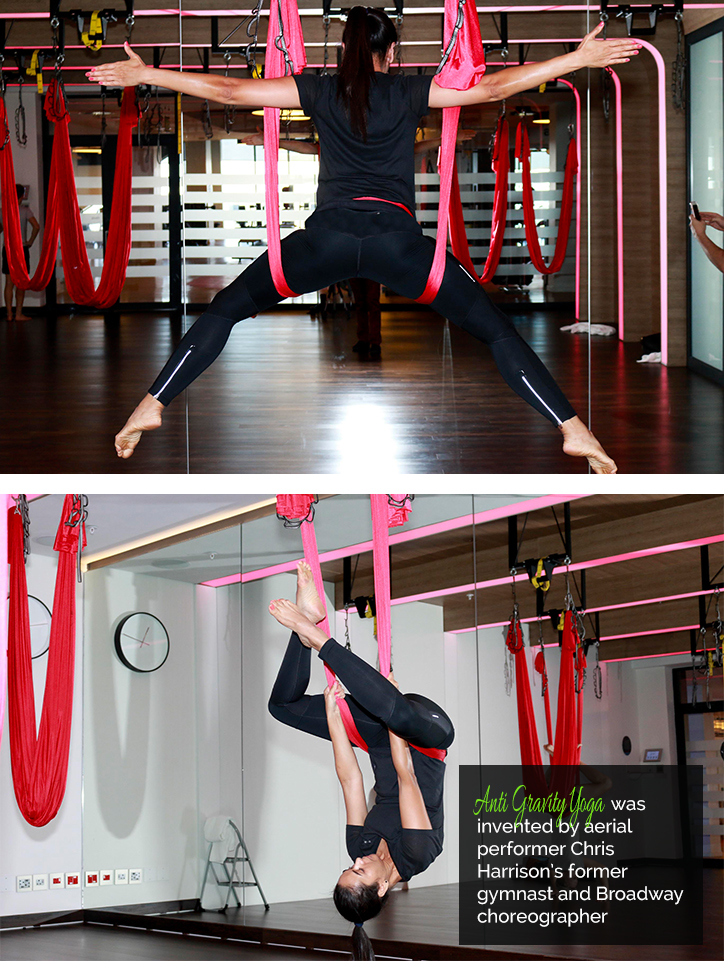 Zuraida Jardine Anti Gravity Yoga Virgin Active Alice Lane