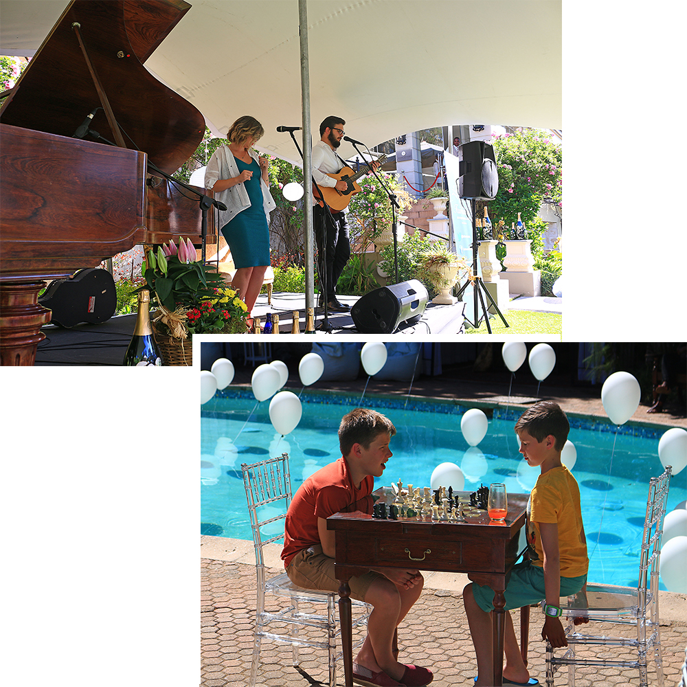 Entertainment at the picnic at Fairlawns Boutique Hotel and Spa