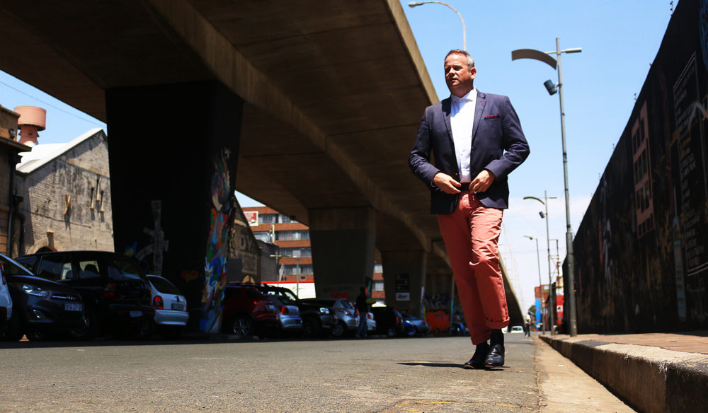 Gentleman in the streets of Maboneng with My Lime Boots