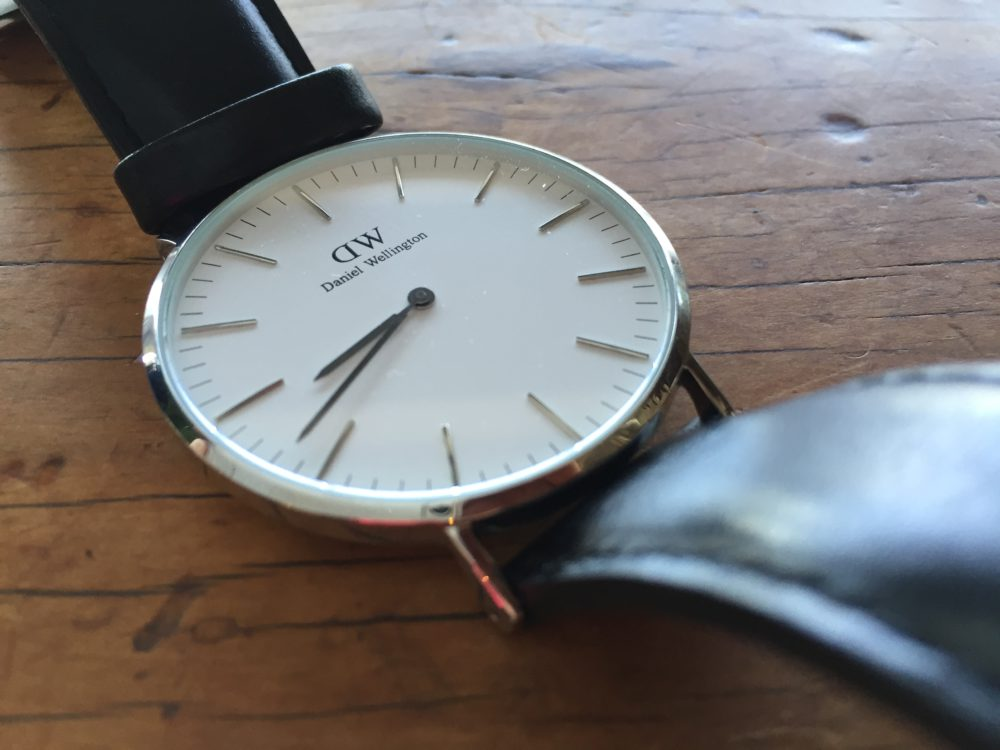 Daniel Wellington Classic Watch on My Lime Boots