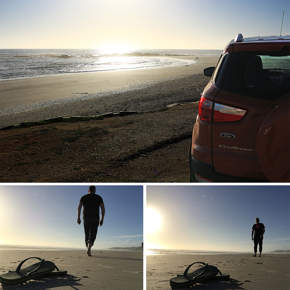 Strandfontein beach on My Lime Boots