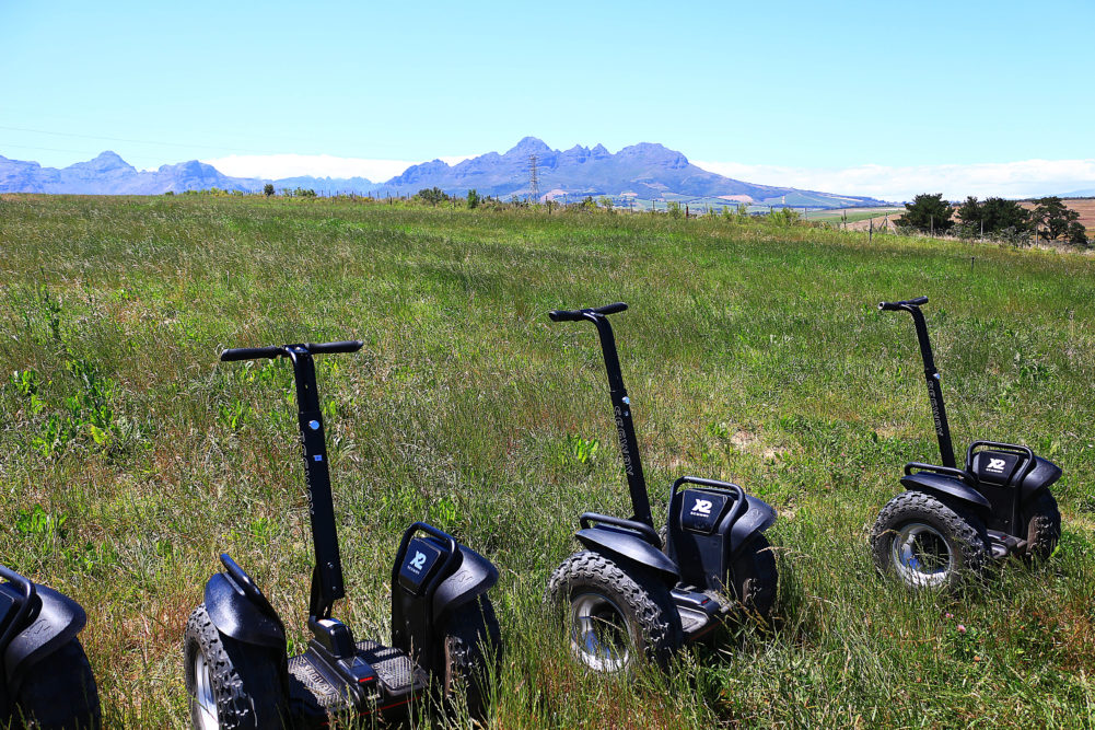 Segways on Spier Wine Farm on My Lime Boots
