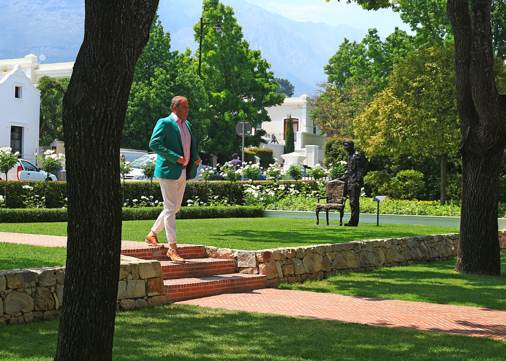 Lunch in Franschhoek on My Lime Boots
