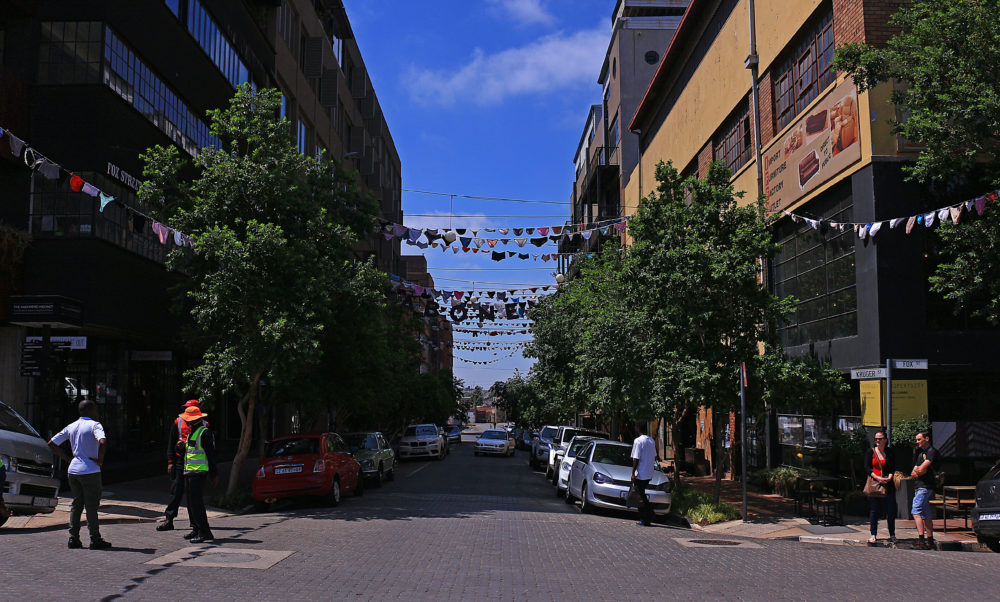 The Streets of Maboneng on My Lime Boots