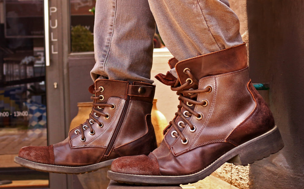 Two toned brown boots from Edgars on My Lime Boots