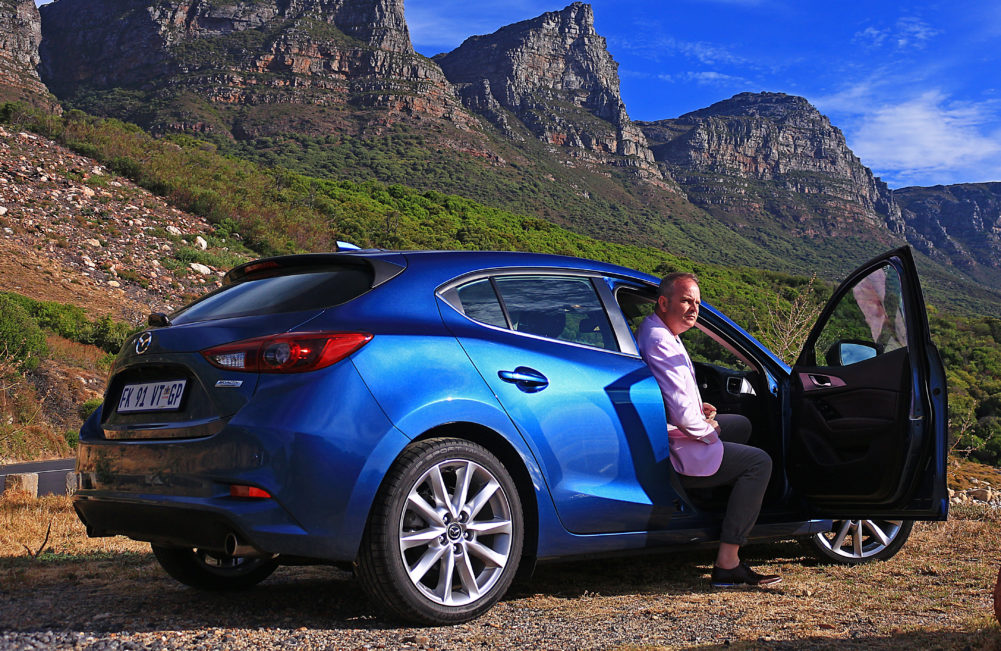 Arriving in Camps Bay in Mazda3 on My Lime Boots