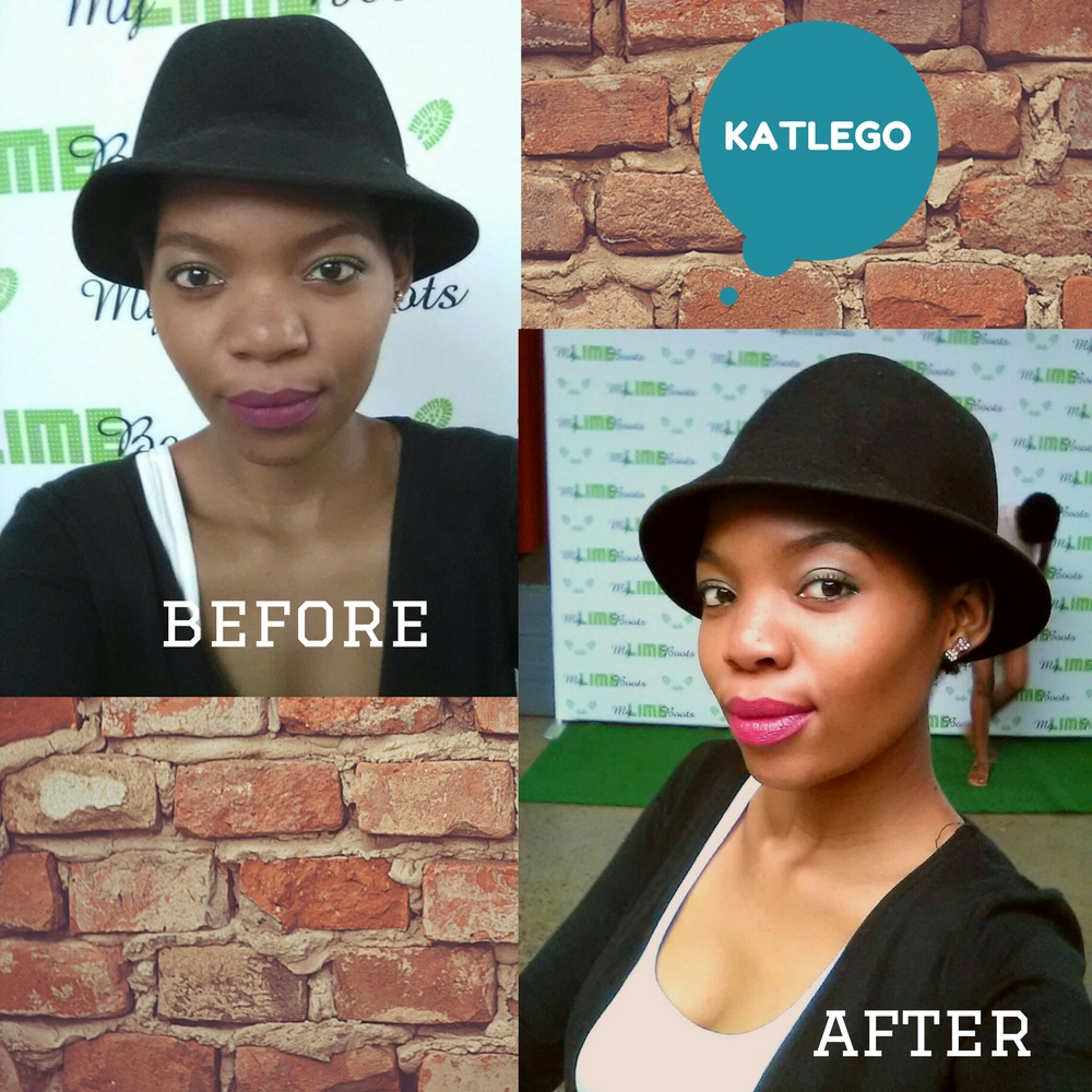 Katlego on the great selfie shootout on My Lime Boots