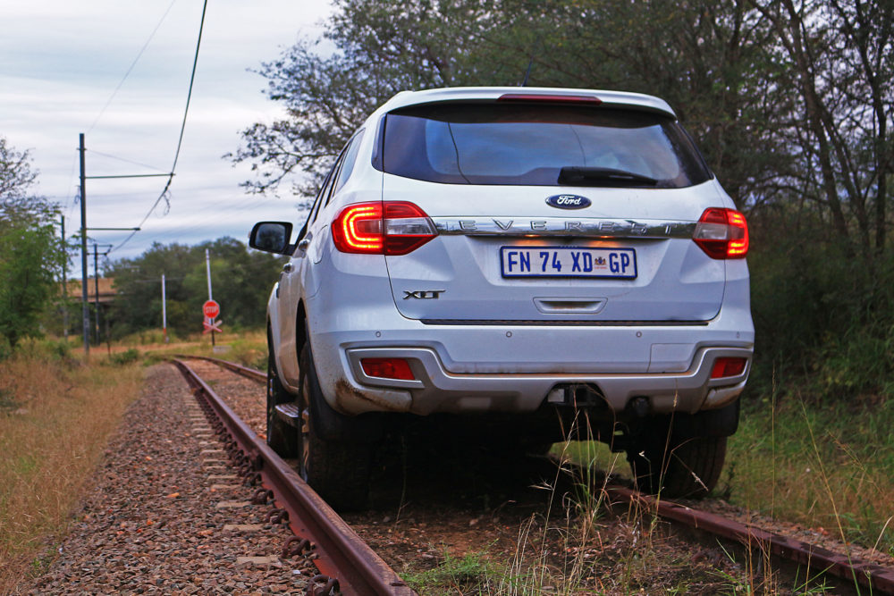 Ford Everest on railway line on My Lime Boots