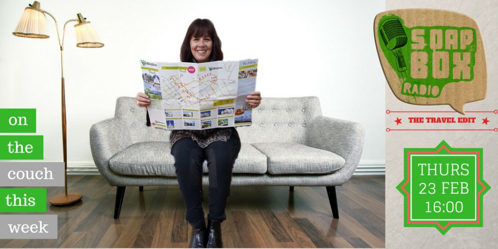 SoapBox Radio on the couch with Kerry Botha from Kerry Travels on My Lime Boots