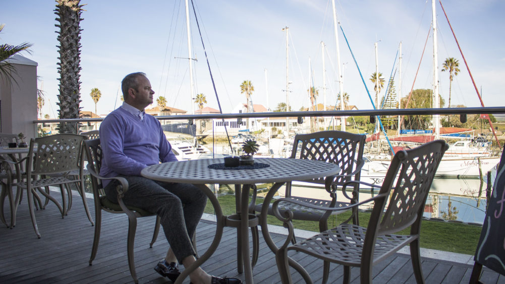 Patio on Russells on the Port in Port Owen on My Lime Boots