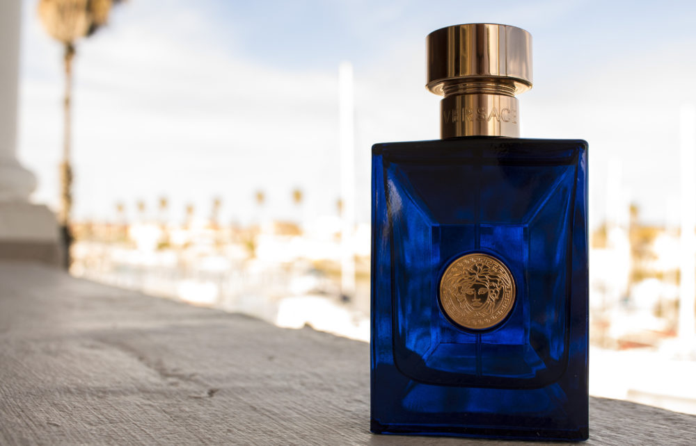 Versace Dylan Blue EDT at Russells On Port on My Lime Boots