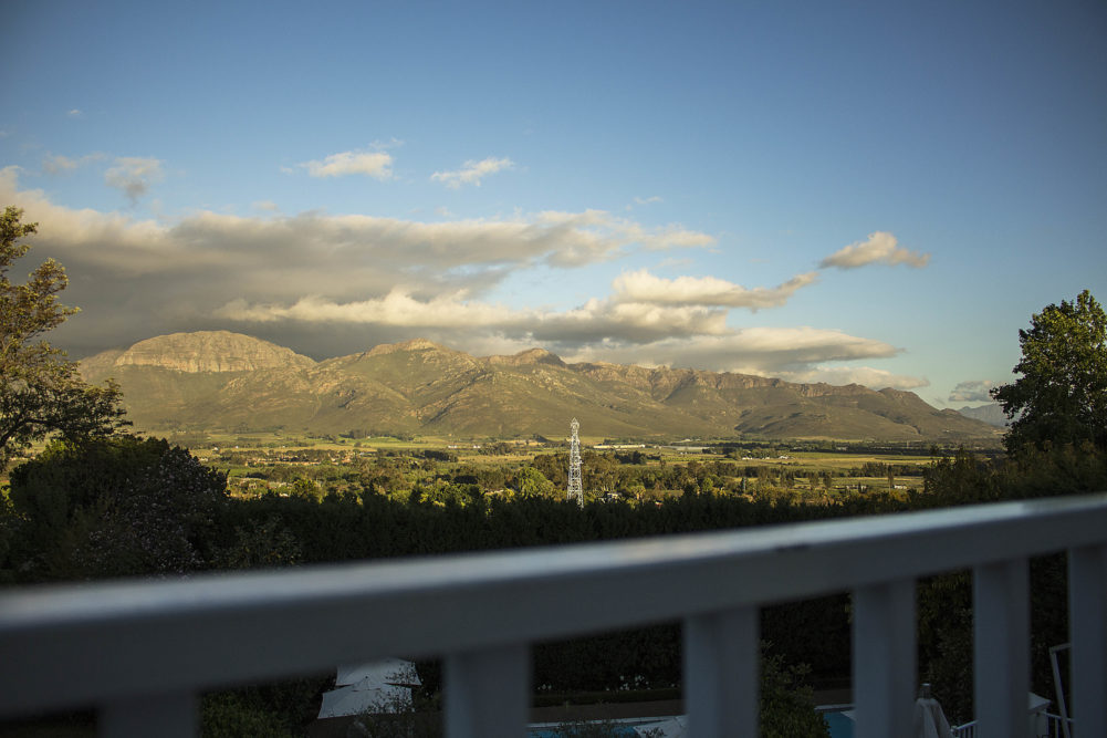 Paarl Valley views from The Light House Boutique Suites on My Lime Boots