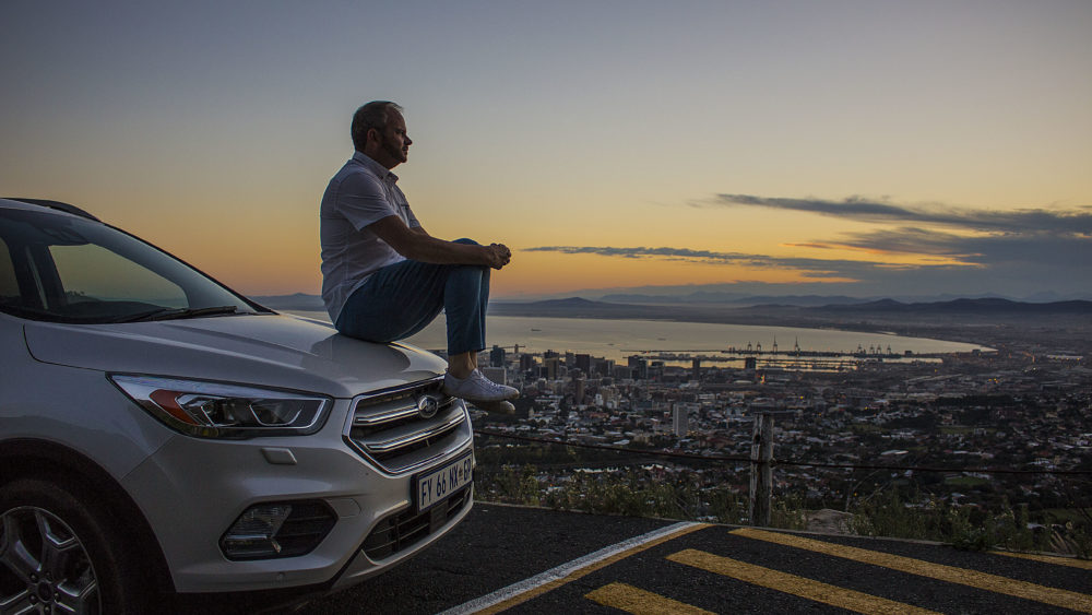 Contemplating Cape Town on a Ford Kuga on My Lime Boots