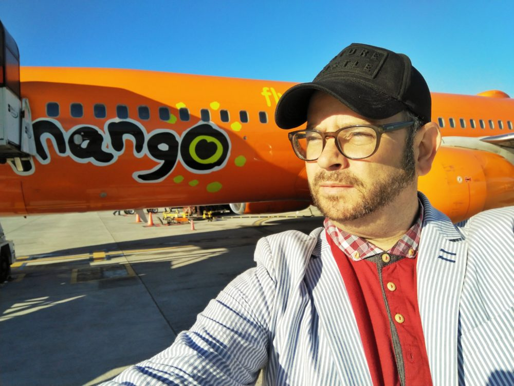 Headed for Joburg on Mango Airlines on My Lime Boots