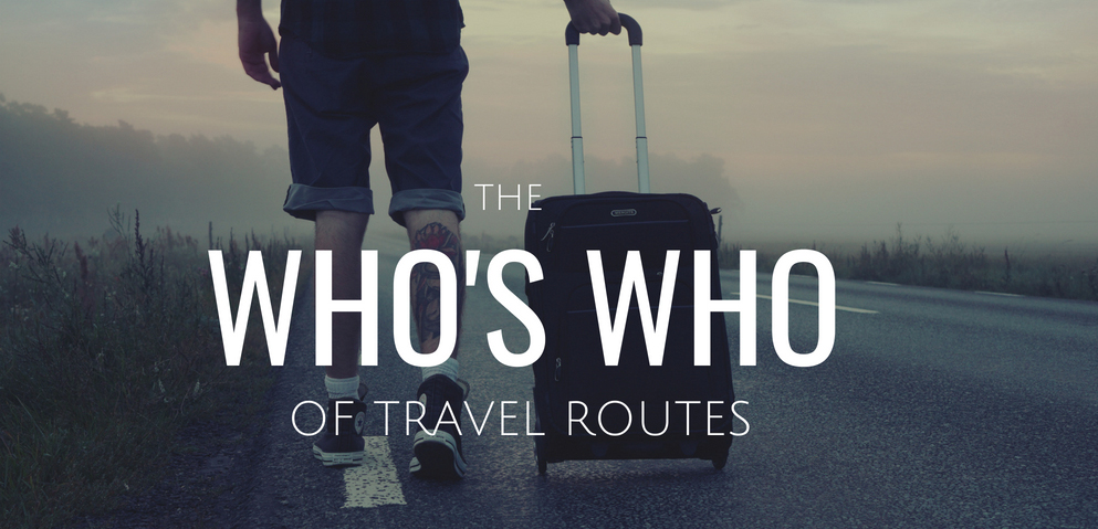 The Who's Who Of Travel Routes on My Lime Boots