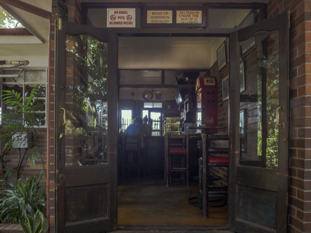 The small pub at Sleepers Railway Station Restaurant in Hoedspruit for My Saturday Find on My Lime Boots