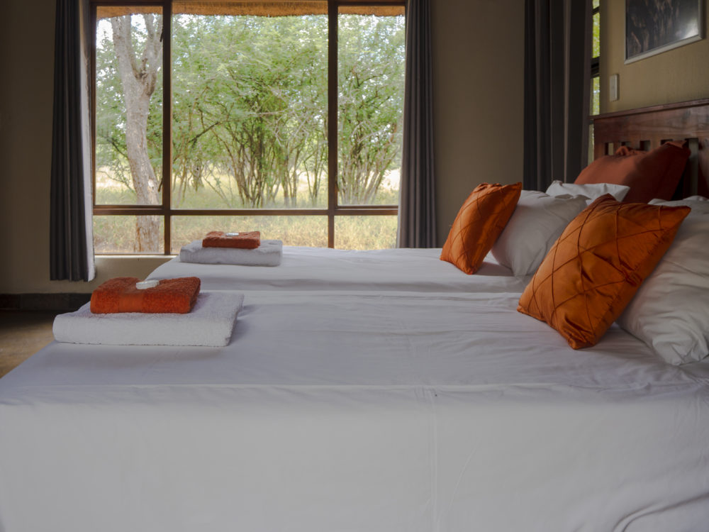 Interior of rooms at Woodpecker Lodge in the Hoedspruit Wildlife Estate on My Lime Boots