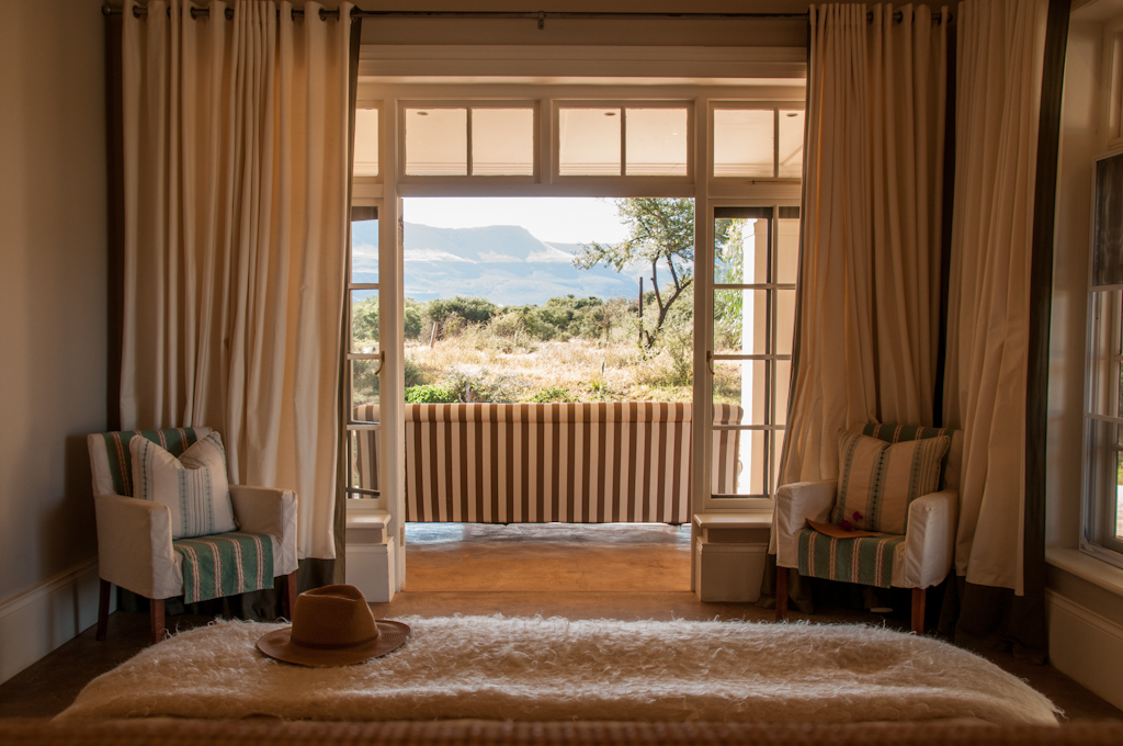 The Manor House views of the Karoo at Samara Private Game Reserve on My Lime Boots