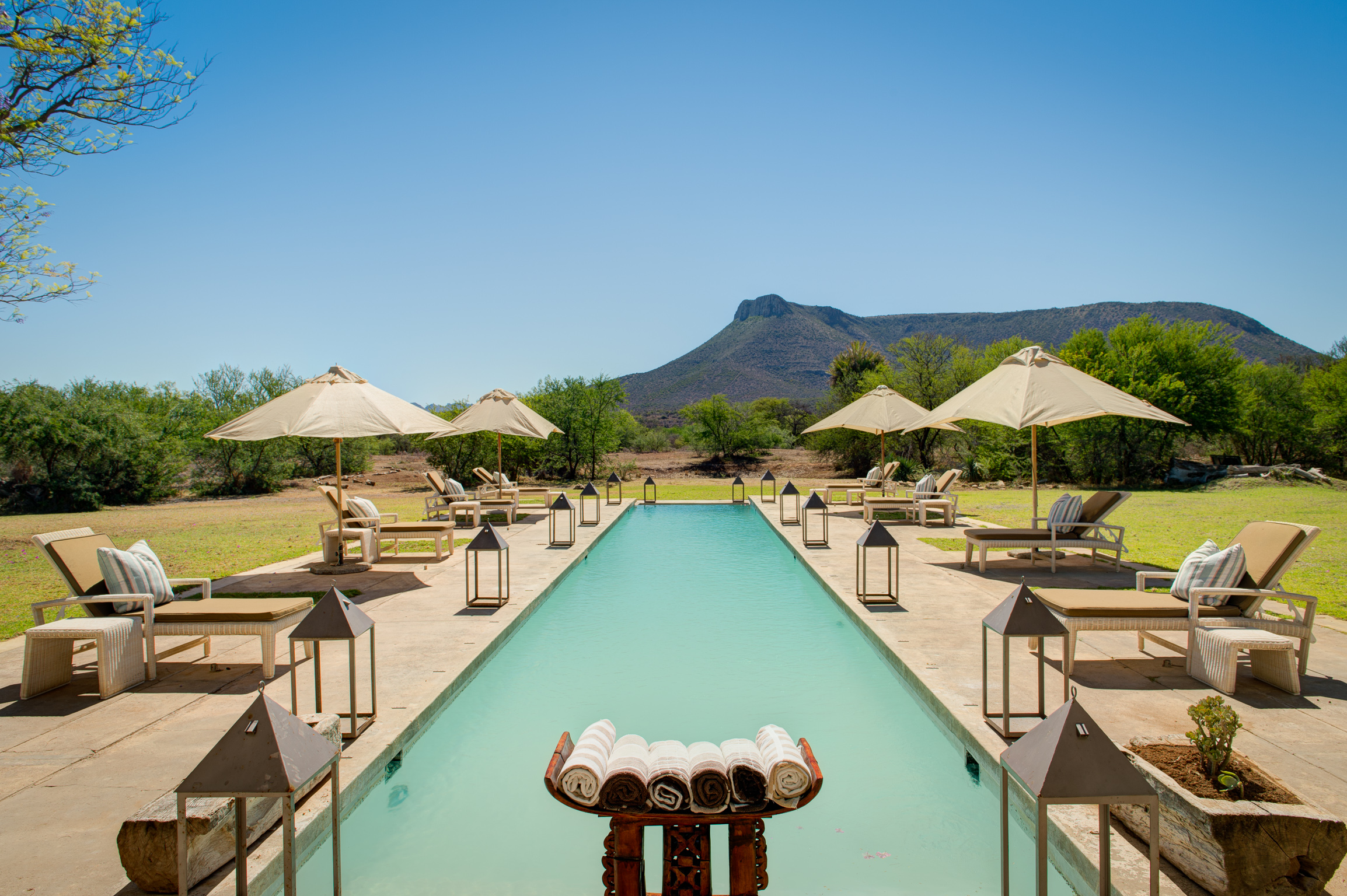 Eternity pool at The Manor House at Samara Private Game Reserve on My Lime Boots