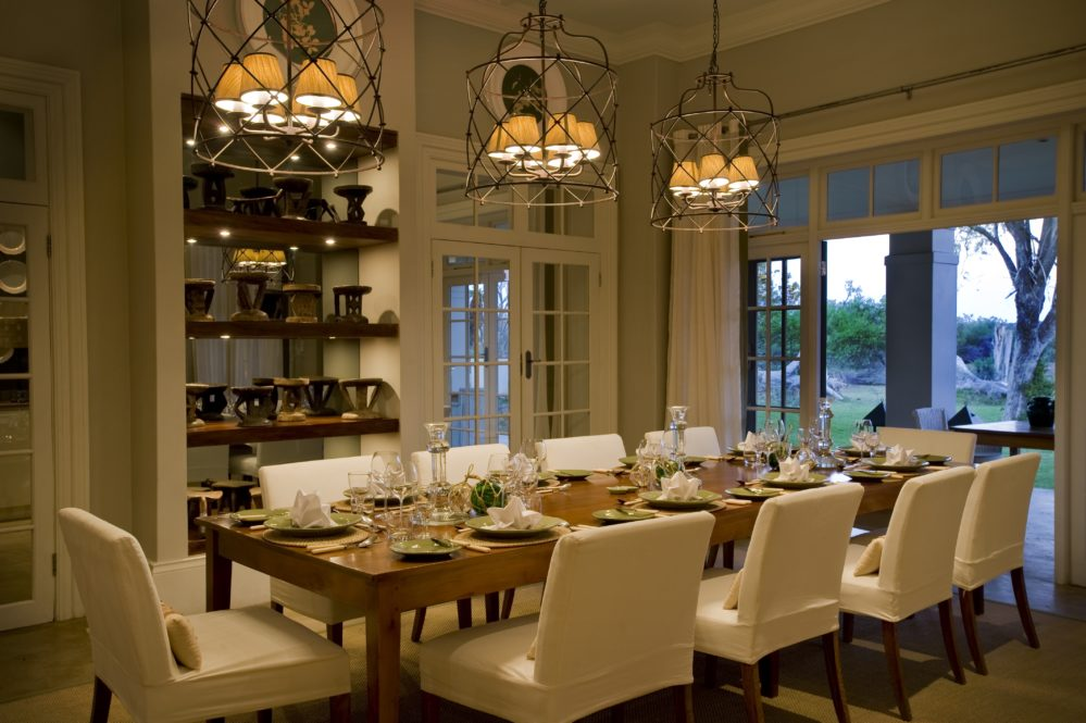 Dining room at The Manor House at Samara Private Game Reserve on My Lime Boots