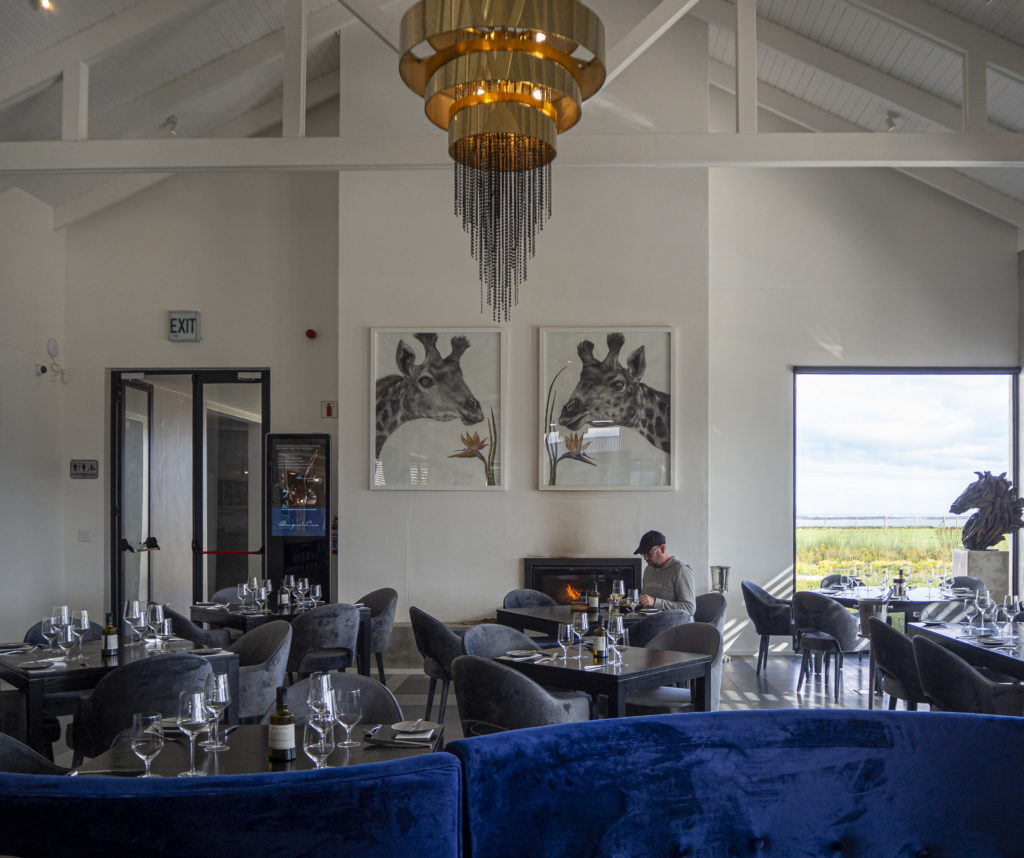 Dining at the Moody Lagoon restaurant at Benguela Cove Wine Estate