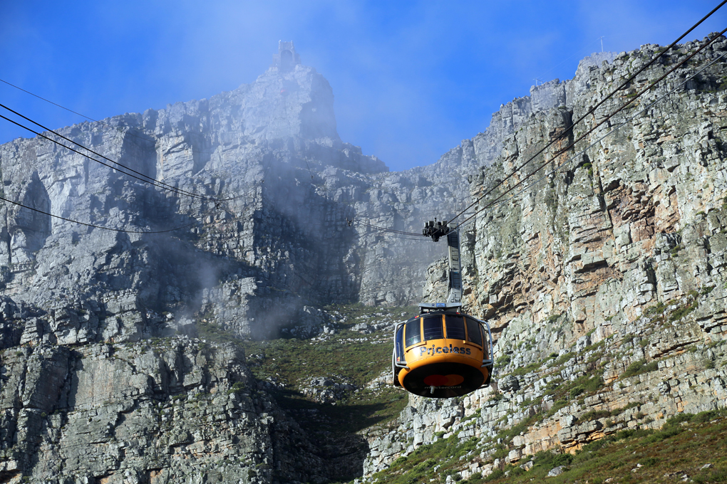Table Mountain Cable Car in Cape Town on My Lime Boots