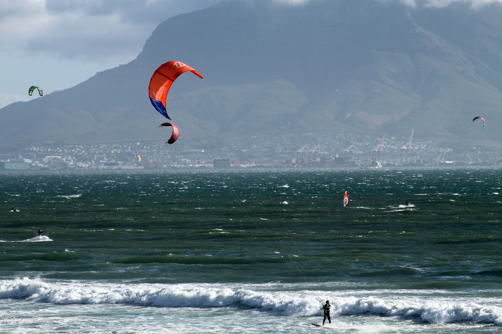 Kite Surfing in Cape Town on My Lime Boots