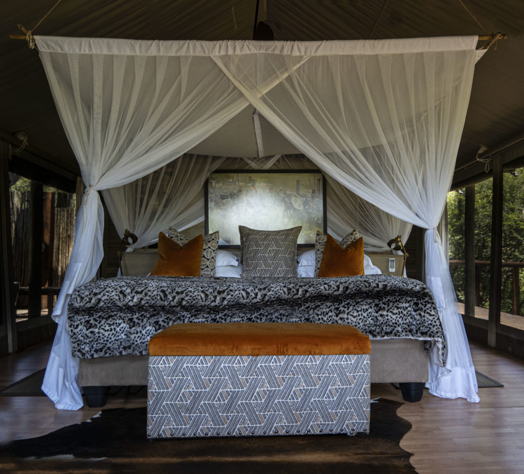 Main Bed in Tent at Tintswalo at Lapalala