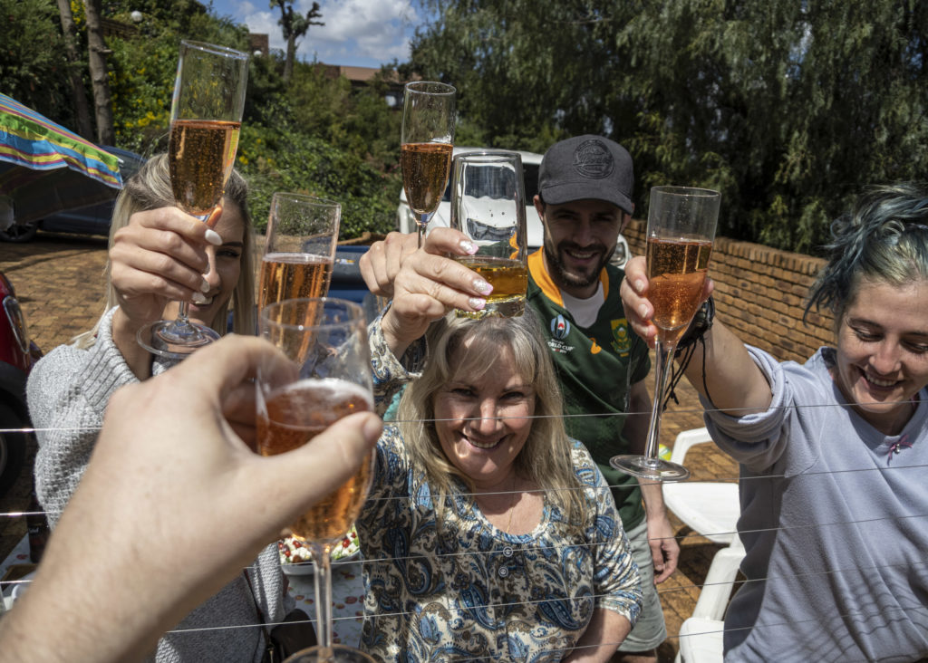 Birthday Cheers Over the Electric Fence during Lockdown in South Africa