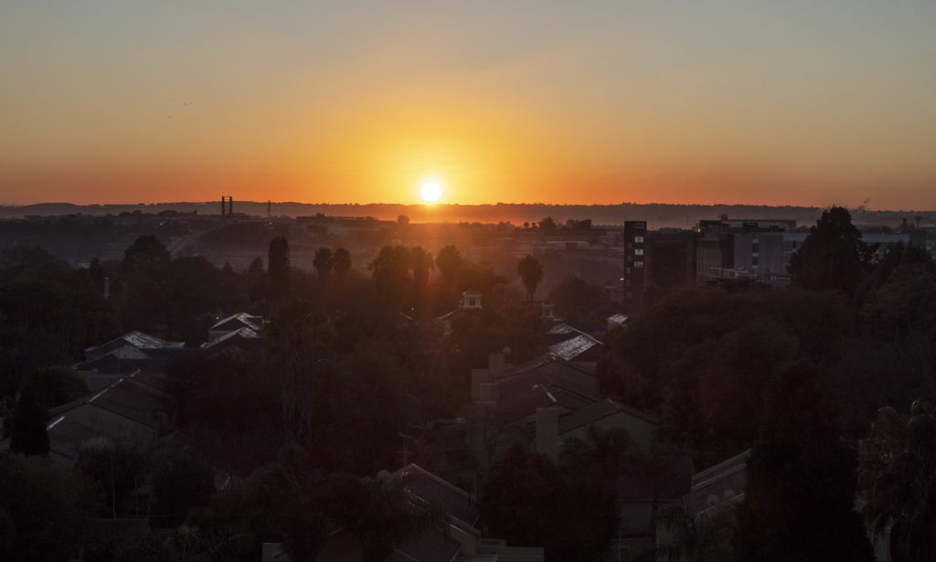Sunrise over Joburg from The Capital on The Park