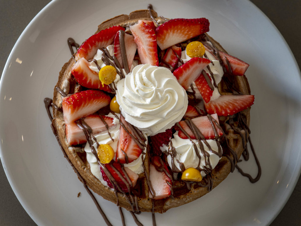 Waffles for breakfast at The Capital on The Park in Sandton Johannesburg