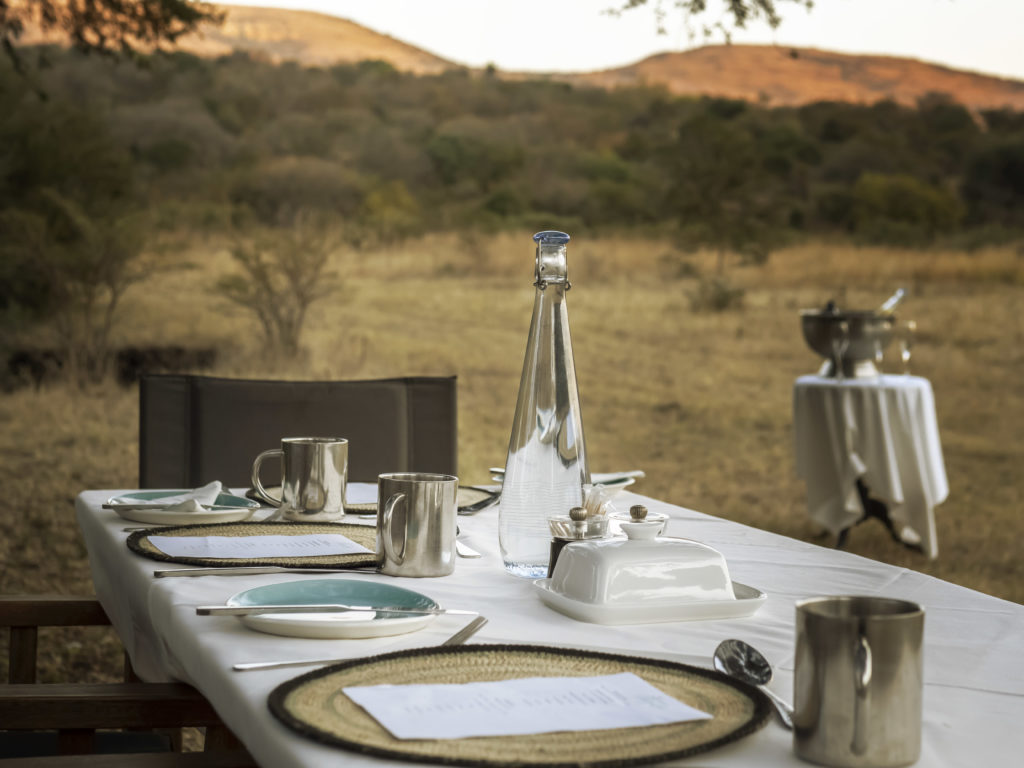 Table Setting for Breakfast in the Bush at Babanango Game Reserve