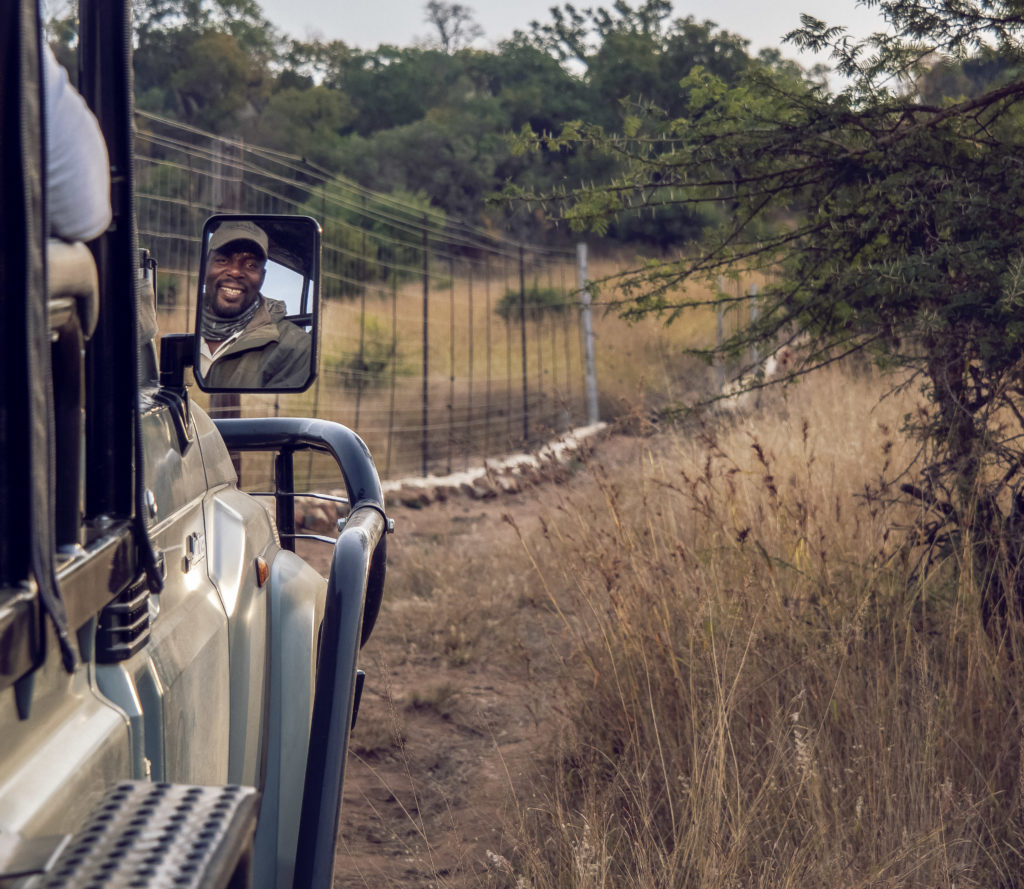 On a game drive with Lucky at Babanango Game Reserve